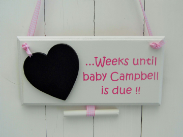Baby's Due Chalkboard Sign